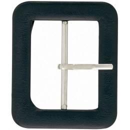 Boucle de ceinture 40mm imitation cuir noir - 17