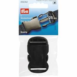 Bouclip 25mm plastique noir - 17