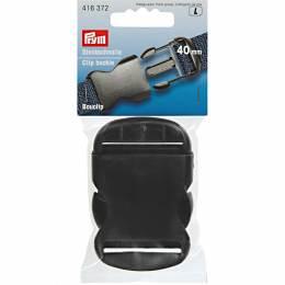 Bouclip 40mm plastique noir - 17