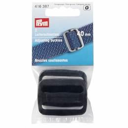 Boucle coulissante plastique 40mm noir - 17