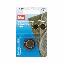 Boutons magnetiques à coudre 25 mm laiton antique - 17
