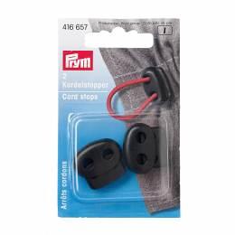 Embout arrêt de cordon 2 trous plast noir 2 - 17