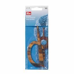 Pic à laine aspect bois natural ovale - 17
