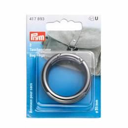 Anneaux pour sacs 35mm gris foncé - 17