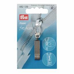Tirette fashion - zipper casual argent antique - 17