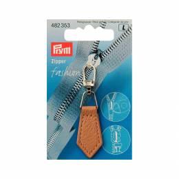 Tirette fashion-zipper imitation cuir beige - 17
