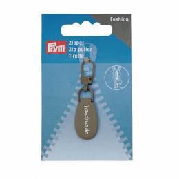 Tirette fashion zip handmade gris - 17