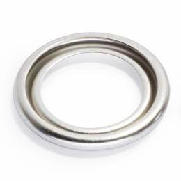 Rondelles 6b laiton 13,5 mm argenté mat - 17