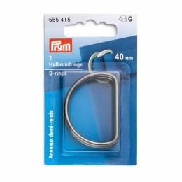 Anneaux demi-ronds 40mm gris foncé - 17