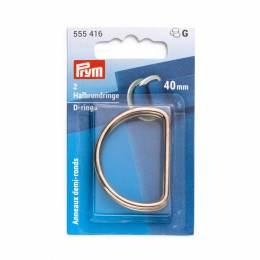 Anneaux demi-ronds 40mm or - 17