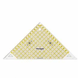 Règle triangle rectangle 1/2 carre en cm - 17