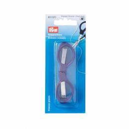 Ciseaux pliants manches plastique violet 10 cm - 17