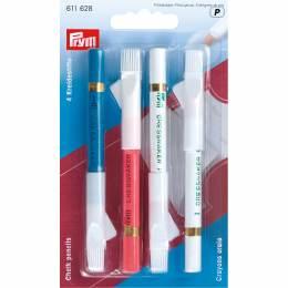 Crayon craie + brosse coloris assortis - 17