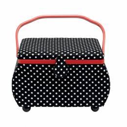 Boîte à couture polka noir / blanc - 17