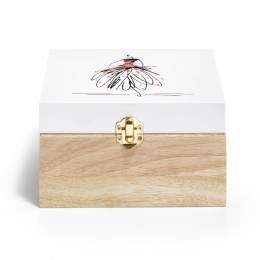 Boîte de rangement bois motif figurine - 17