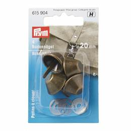 Patins à clouer pour sac ø 20 mm laiton antique 4 - 17