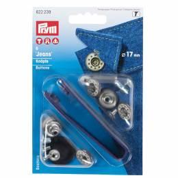 Bouton jeans ouvert étoiles 17mm gele 6 - 17