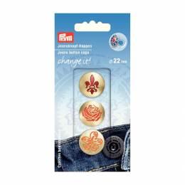 Change it calottes bouton jeans fleur - 17