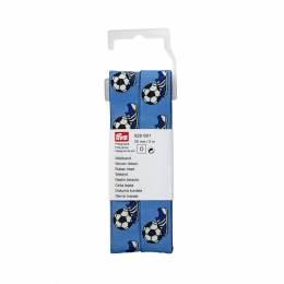 Ruban tisse ballon de foot/chaussures 20 mm bleu - 17