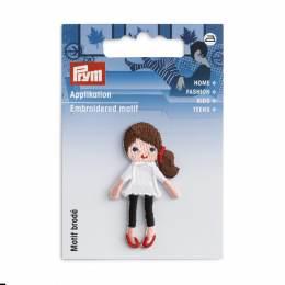 Motif déc. poupée cheveux bruns - 17