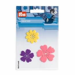 Motif déc. adhésive/thermocollant fleurs multicolo - 17