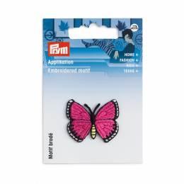 Motif déc. papillon fuchsia - 17