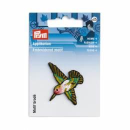 Motif déc. colibri vert/multicolore - 17