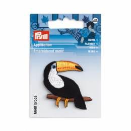Motif déc. toucan noir/blanc/jaune - 17