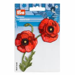 Motif déc. vrille de fleurs coquelicot - 17