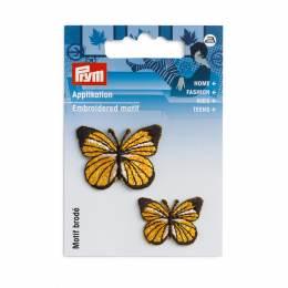 Motif déc. papillons jaune/noir - 17