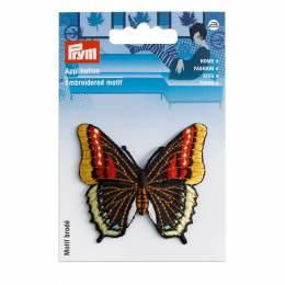 Motif déc. papillon noir/multicolore - 17