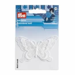 Mot. déc. papillon festif blanc - 17