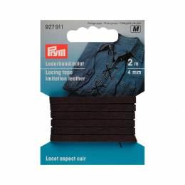 Lacet aspect cuir 4mm brun 2m - 17