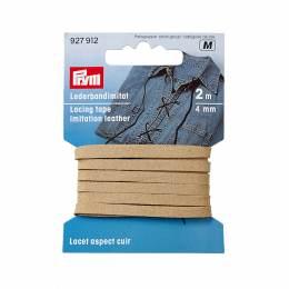 Lacet aspect cuir 4mm beige 2m - 17