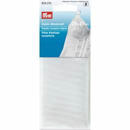 Pièce élastique corsetterie 20 x 25cm blanc - 17