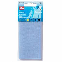 Pièce thermocollante coton bleu 12/45cm - 17