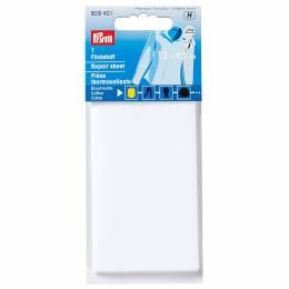Pièce thermocollante coton 12x45 cm blanc - 17