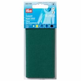 Pièce thermocollante coton 12x45 cm vert - 17