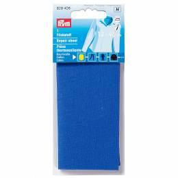 Pièce thermocollante coton 12x45 cm bleu moyen - 17