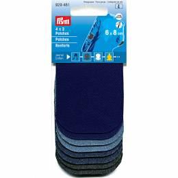 Renforts assortis thermocollants mini jeans 8x6cm - 17