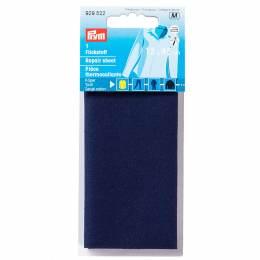Pièce thermocollante serge coton 12x45 cm bleu - 17