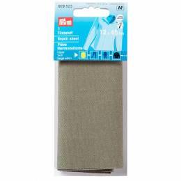 Pièce thermocollante serge coton 12x45 cm olive - 17