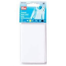 Pièce thermocollante serge coton 12x45 cm blanc - 17