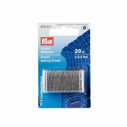 Fil à coudre élastique 0,5mm gris clair 20 m - 17