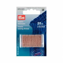 Fil à coudre élastique 0,5mm beige 20 m - 17