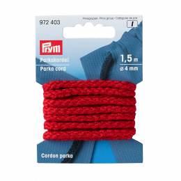 Cordon parka en polyacrylique 4mm rouge1,5 - 17