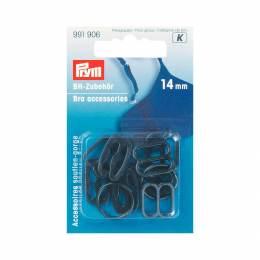 Boucles soutien-gorge assortiment noir 14mm - 17