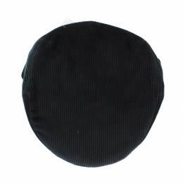 Casquette plate velours 100% coton t.56 noir - 171