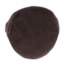 Casquette plate velours 100% coton t.56 marron - 171