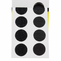 Pastille Velcro® adhésive 19mm noir x200u - 175